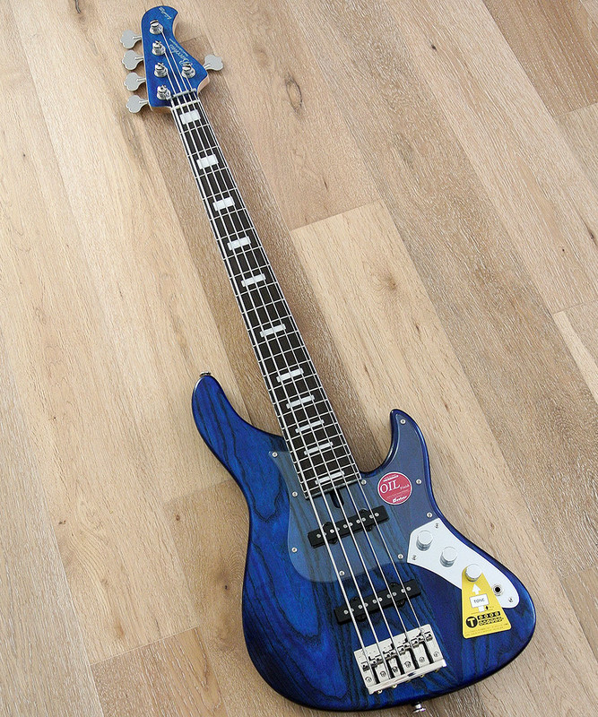 Bacchus Craft Japan Series - WL524DX-ASH - 4 string bass with 24 frets in Blue Oil Finish