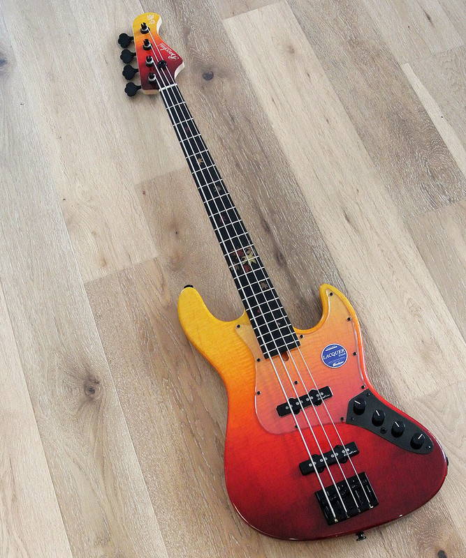 Bacchus Handmade Japan - WOODLINE 417 AC/AL - Autumn Leaves - Limited Edition 4 String Active Bass
