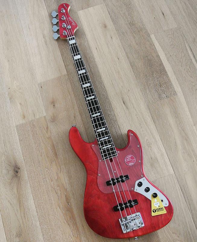 Bacchus Handmade Japan Series - WOODLINE417/E - 4 String Bass - Red Oil