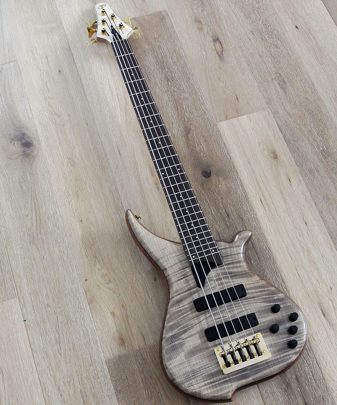 TUNE Hatsun TWB53 FM - 5 String  Bass - AAAAA Flame Maple Top -  Special NAMM model
