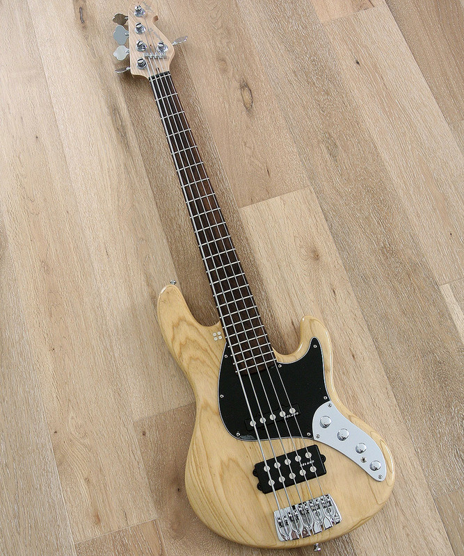 Sandberg California II - TM 5 String - Actie Bass in Natural Swamp Ash Finish