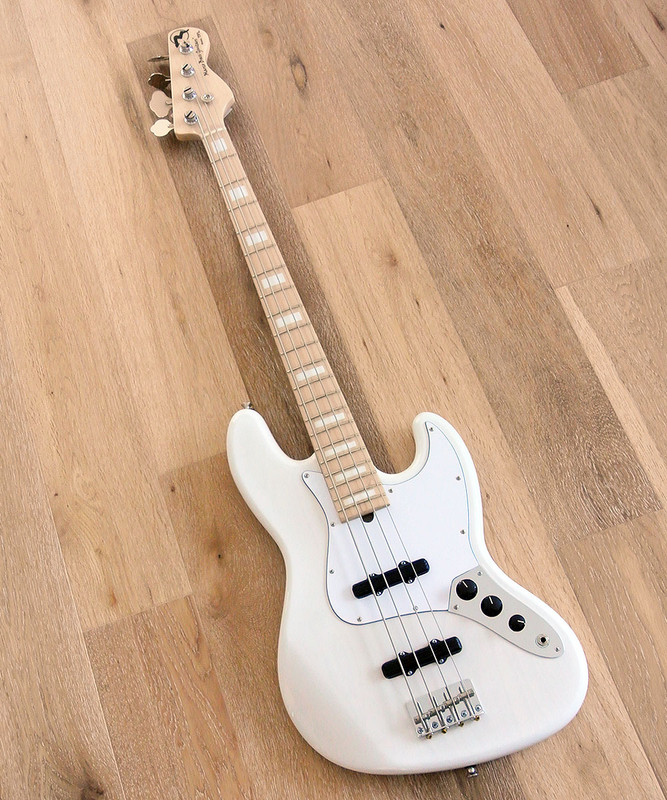 Marco Bass Guitars -  TFL 4 Gloss - 4 String Bass Guitar In Gloss Transparent White - Tulip wood Body