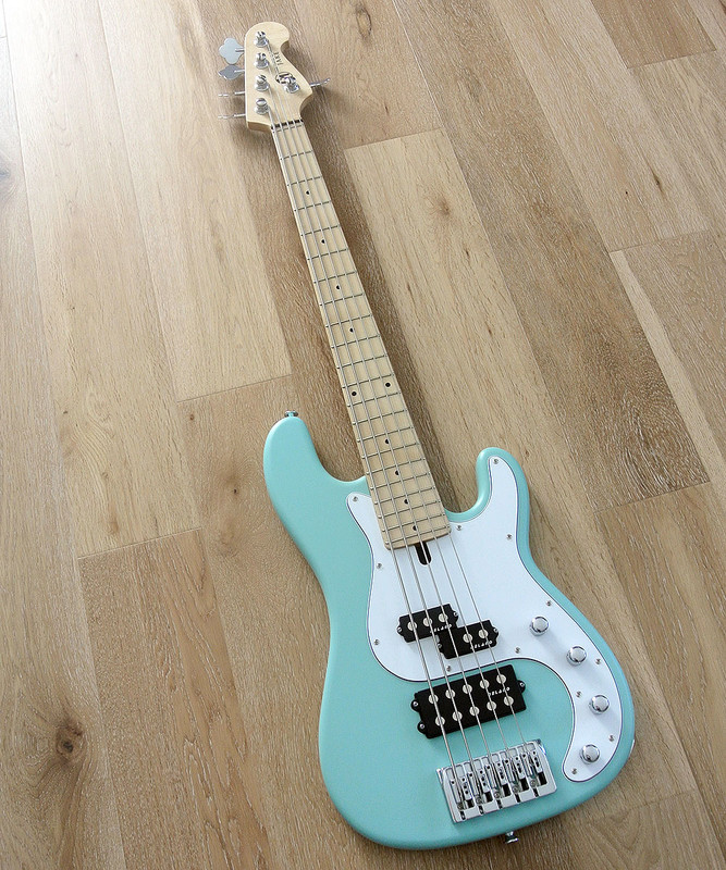 Maruszczyk Instruments - JAKE 5a+ - 5 String Active Bass in Sea Foam Green Finish
