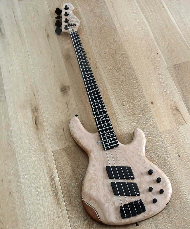 Sandberg Panther Special -  4 String - Active Bass  - Matte Quilt Top with Ebony Fingerboard