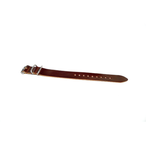 Shell Cordovan 1 Piece Military Leather Watch Strap - Color 4 (Matte Buckle)