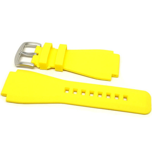 Bell & Ross Rubber Dive Watch Strap - Yellow