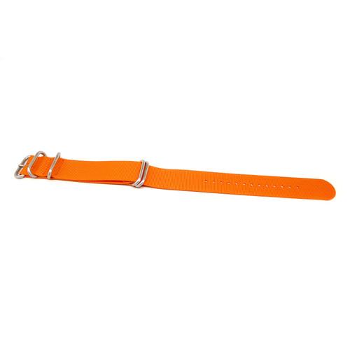 Ballistic Nylon Military Watch Strap - Orange (Matte Buckle)