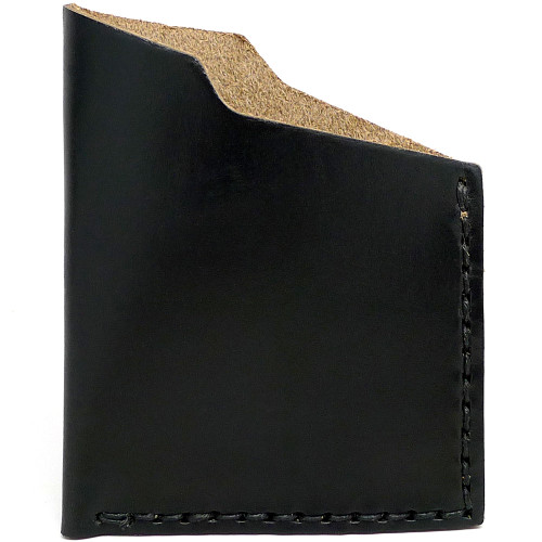 Leather Angle Wallet - Black Chromexcel