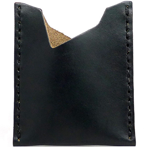 Leather Stash Wallet - Black Chromexcel