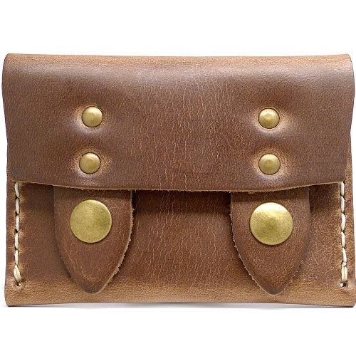 Leather Horizontal Snap Wallet - Natural Chromexcel