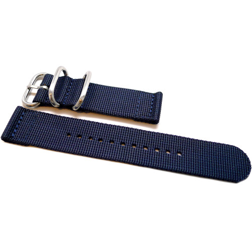 Two Piece Ballistic Nylon Watch Strap - Navy