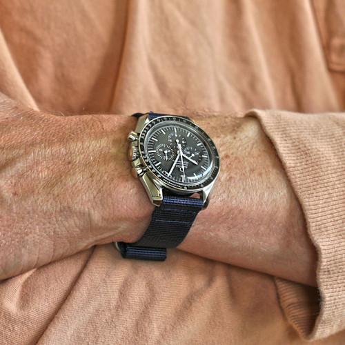 Two Piece Ballistic Nylon Watch Strap - Navy