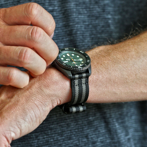Two Piece Ballistic Nylon Watch Strap - Bond (PVD)