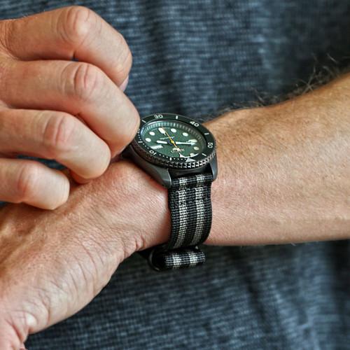 Two Piece Ballistic Nylon Watch Strap - Bond (PVD)