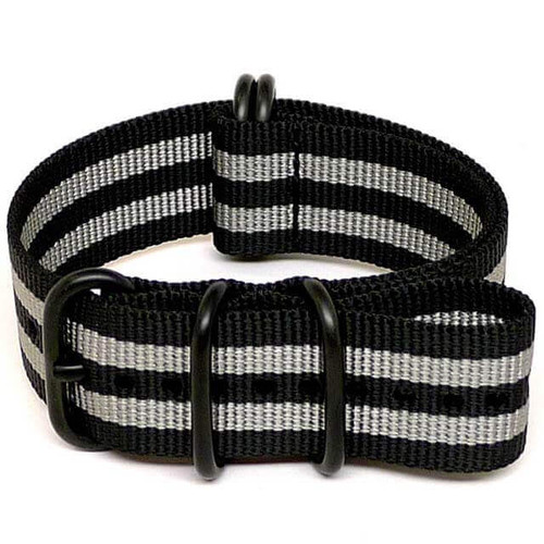 Ballistic Nylon Military Watch Strap - Bond (PVD Buckle)