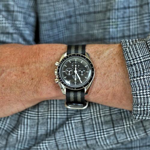 Ballistic Nylon Military 1 Piece Watch Strap - Bond (Matte Buckle)