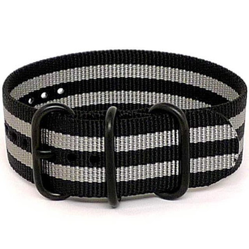 Ballistic Nylon Military 1 Piece Watch Strap - Bond (PVD Buckle)