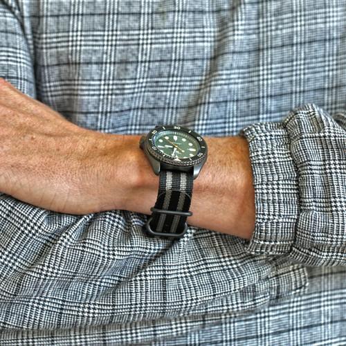Ballistic Nylon Military 1 Piece Watch Strap - Bond (PVD Buckle)