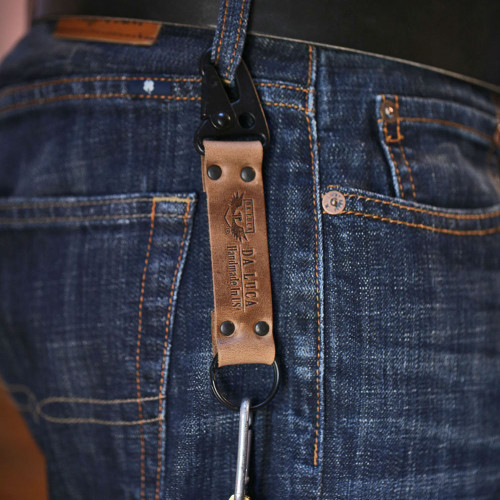 Leather V2 Key Chain - Natural Chromexcel (PVD)