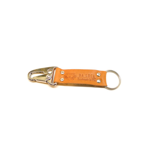 Leather V2 Key Chain - Natural Essex (Polished)