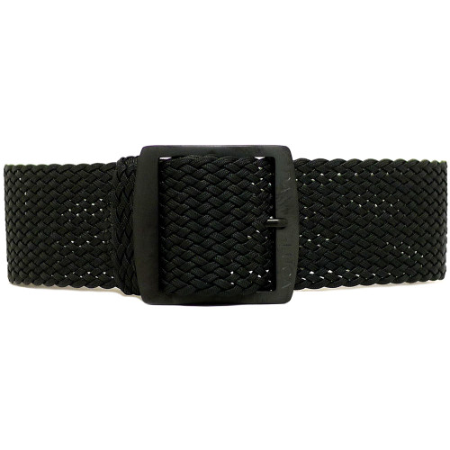 Braided Nylon Perlon Watch Strap - Black (PVD Buckle)
