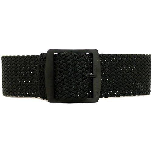 Braided Nylon Perlon Watch Strap - Black (PVD Buckle)