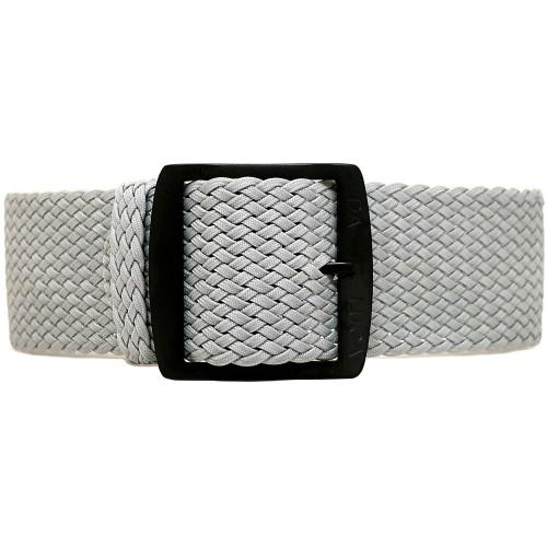 Braided Nylon Perlon Watch Strap - Grey (PVD Buckle)