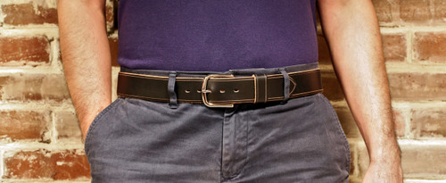 Handmade Leather Belt in Black