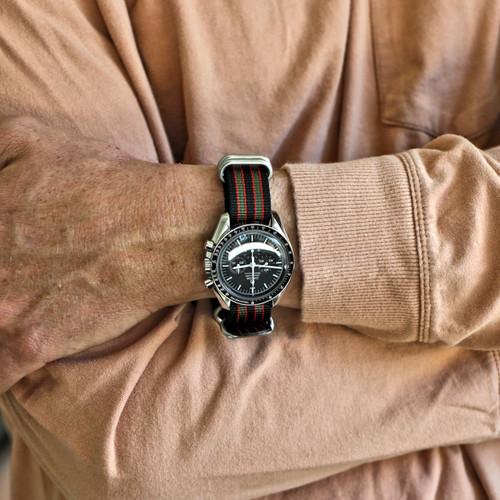Ballistic Nylon Military Watch Strap - Goldfinger (Matte Buckle)