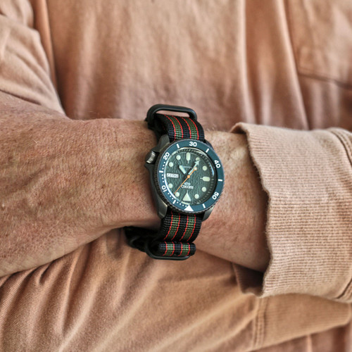 Ballistic Nylon Military Watch Strap - Goldfinger (PVD Buckle)