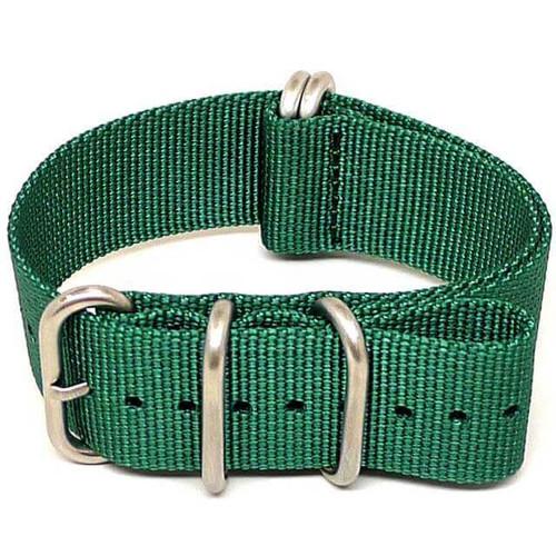 Ballistic Nylon Military Watch Strap - Green (Matte Buckle)
