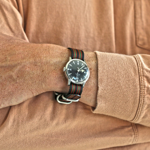 Ballistic Nylon Military 1 Piece Watch Strap - Goldfinger (Matte Buckle)