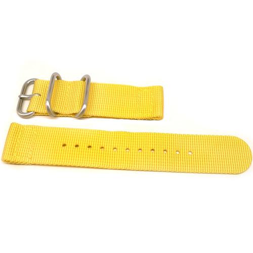 Two Piece Ballistic Nylon Watch Strap - Yellow