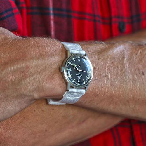 Two Piece Ballistic Nylon Watch Strap - White