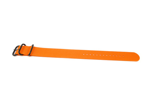 Ballistic Nylon Military 1 Piece Watch Strap - Orange (PVD Buckle)