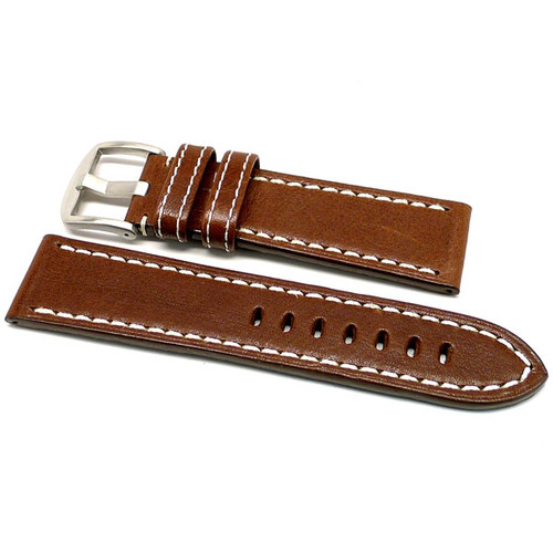 OEM Style Leather Watch Strap - Brown