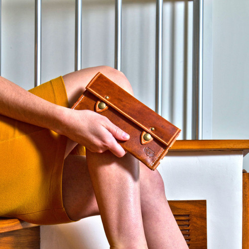 Leather Wallet - Natural Dublin