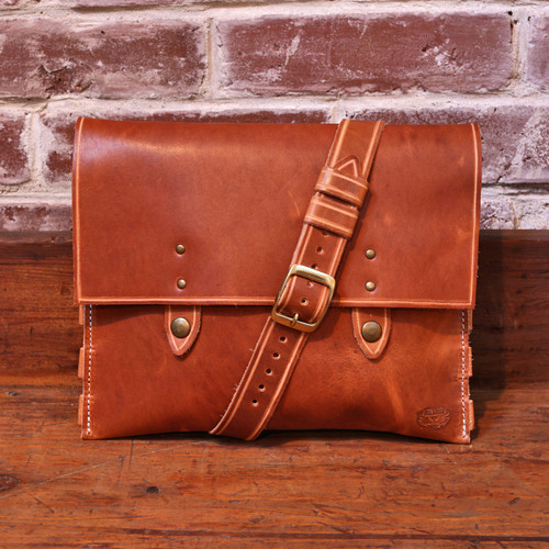 Leather Handbag - Natural Dublin