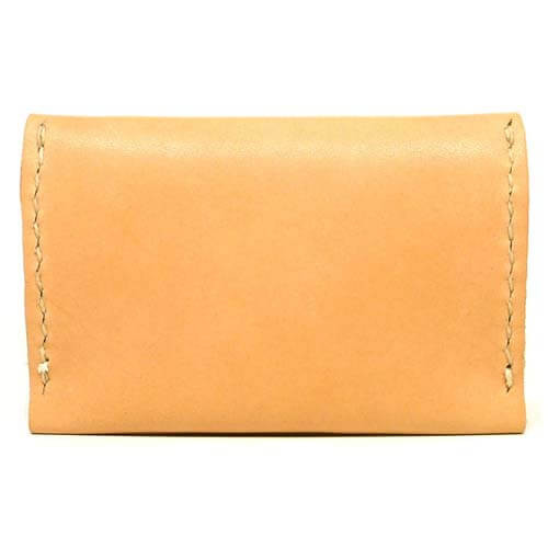 Leather Flip Wallet - Natural Essex