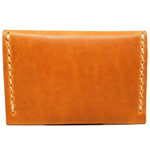 Leather Flip Wallet - Natural Dublin