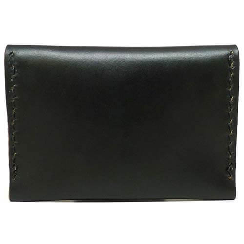 Leather Flip Wallet - Black Chromexcel