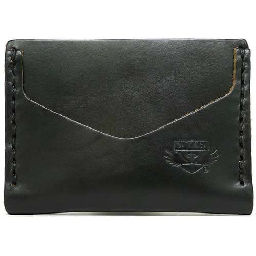 Horizontal Card Wallet - Black Chromexcel