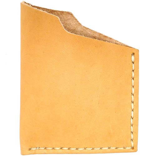 Leather Angle Wallet - Natural Essex