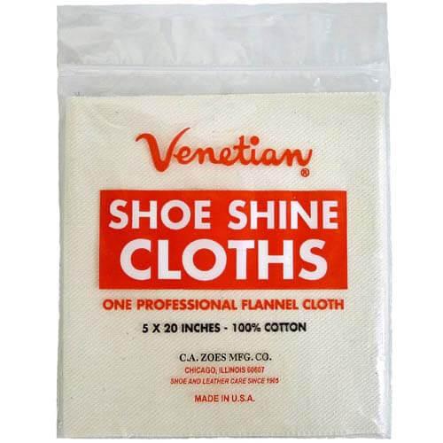 Venetian Cream Leather Shine Cloth