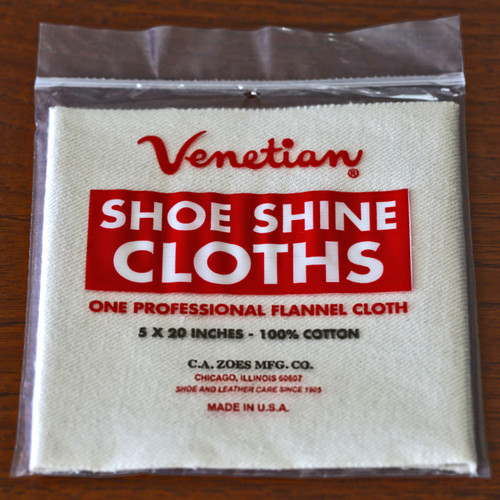 Venetian Cream Leather Shine Cloth