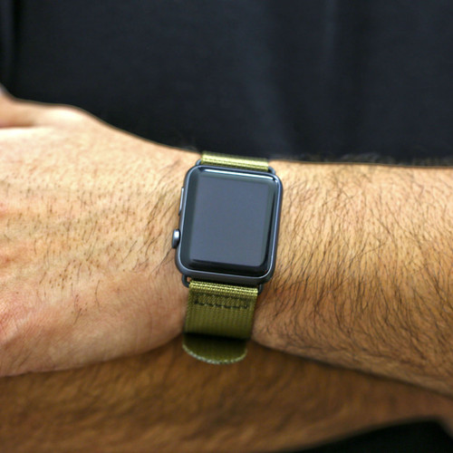 Nylon Apple Watch Strap - Sand