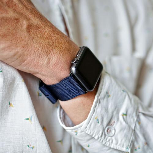 Nylon Apple Watch Strap - Navy