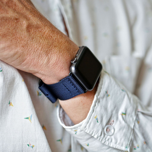 Nylon Apple Watch Strap - Navy