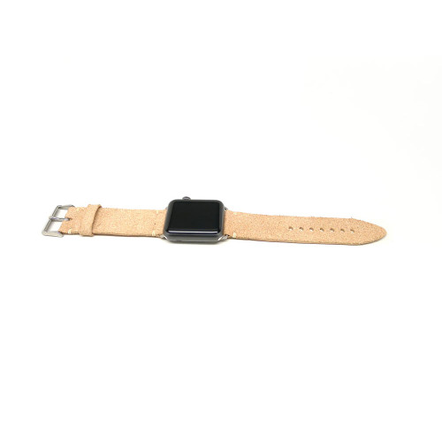 Leather Apple Watch Strap - Natural Essex Suede