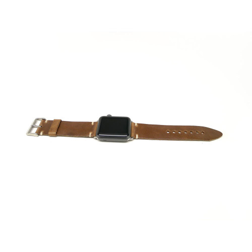 Leather Apple Watch Strap - Natural Chromexcel